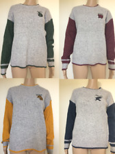 Harry Potter Knitted Jumper Women's Ladies Gryffindor, Hufflepuff, Ravenclaw New