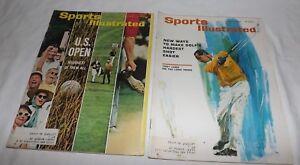 (2) Sports Illustrated March 15 & June 14, 1965-U.S. OPEN & Tony Lema Long Irons