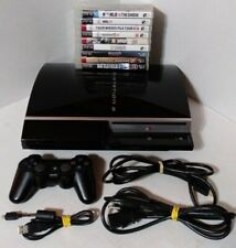 Sony PS3 Console Playstation 3 W/Controller HDMI & Power Cable 10 Games CECHL01