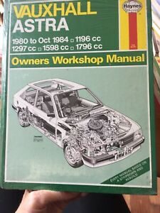 Vauxhall Astra Haynes Workshop Manual from 1980 to 1984.