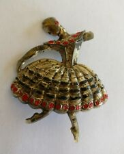 Art Deco Celluloid ballet dancer brooch damaged