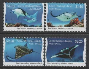 Cocos (Keeling) Islands 2021 Manta Ray set of 4 Mint Unhinged
