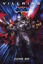"""BATMAN AND ROBIN 1997 Advance Villains DS 2 Sided 27z40"""" Movie Poster G Clooney"""