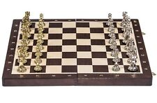 SQUARE - Chess Tournament No. 4  - Wenge / Metal - Chessboard & Chess Pieces
