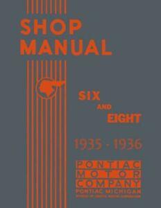 1935 1936 Pontiac Shop Service Repair Manual Engine Drivetrain Electrical Book