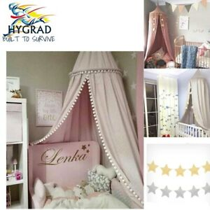Boys Girls Bed Canopy Bedcover Mosquito Curtain Bed Round Dome Tent Decor