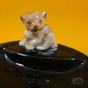 Wade Whimsies (1958/65) Whimtray/Pin Tray Series (Black Dish - B) Lion Cub - A/F