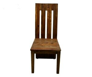 Cromer Indian Solid Wood Seating Chair Brown (MADE TO ORDER)