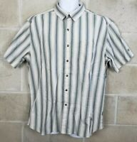 KUHL Mens Button Down Multicolor Striped Shirt Short Sleeve Size XL