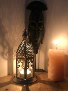Lanterne orientale arabe marocaine fait main, lanterne mariage 22cm