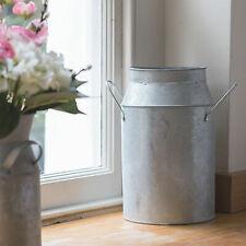 Shabby Chic Farmhouse Traditional Metal Milk Churn Vintage Style Flower Vase Jug