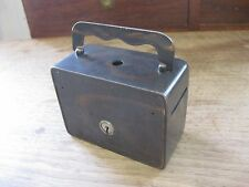 antique safe STRONGBOX BANK lock box -S.D. Childs Co. Chicago - heavy steel
