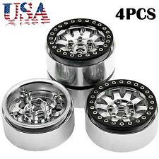 4x 1.9 inch Alloy beadlock Wheels Rims FOR SCX10 1/10 RC Axial Crawler CC01 Cars