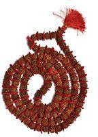 4 Mukhi Rudraksha Mala / Four Face Rudraksh Collector 16-18 MM - Nepal -109 bead