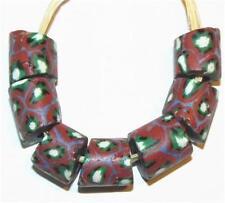 Rare Venetian matched Antique Rusty dark Millefiori African Glass Trade beads