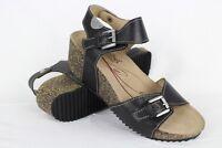 Josef Seibel Women's Meike Ankle Strap Wedge Sandals 37/6-6.5 Black 68709