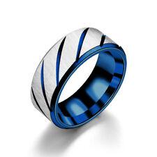 Stainless Steel Titanium Men&Women Wedding Engagement Band Ring Cool Size 5-13