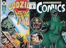 GODZILLA LOT OF 2 - GODZILLA VERSUS HERO ZERO & DARK HORSE COMICS #11 (NM-)