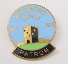 1071-1971 Richmond Castle Patron pin badge - yorkshire - cycling ?