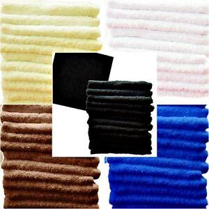 Face Clothes Towels Flannels Super Soft 100% Egyptian Cotton 550 GSM All Colours