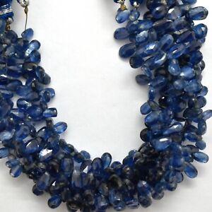 "Natural Iolite 6x9mm Briolette Pear Shape Gemstone Beads 8"" Strand BDS-1014"