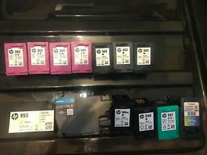 hp EMPTY Original Inkjet Cartridges 4 x 302 col , 3 x 302 bl, 953,304xl,350,351