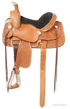 13 Inch Western Youth Roper Saddle - Lone Star - Light Oil Leather - Suede Seat