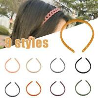 Candy Color Hollow Chains Headbands Girl Non-Slip Hair Hoop Wrap Hairs Accessory