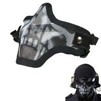 New Elegant Metal Mesh Protective Mask Half Face Tactical Airsoft Military Mask