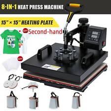 Secondhand 360 Swing Away Press 8in1 T Shirt Heat Press Machine W 15x15 Heat Pad