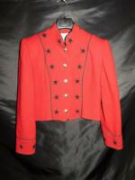 Vintage Scully M Red Wool Black Star Western Blazer Cropped Jacket Marsha Wright