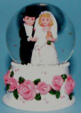 Madame Alexander 90775 Bride & Groom water globe small NIB wedding