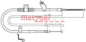 METZGER Parking Brake Cable For MITSUBISHI PEUGEOT Outlander II 4007 4746.33