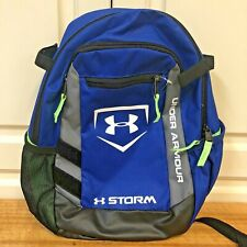 Under Armour Backpack Storm Bright Blue Lime Green Small New Without Tags