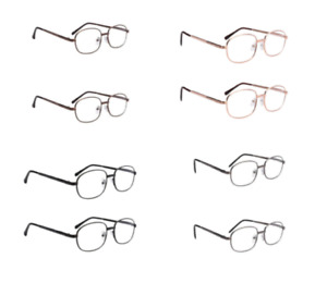 Reading Glasses Mens Readers 2 Pair Lot Affordable R9105 +1.00 to +3.50 Strength