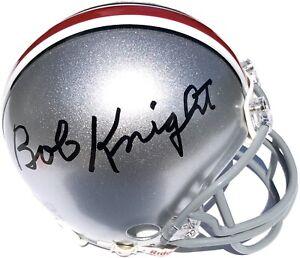 BOB KNIGHT SIGNED OHIO STATE FOOTBALL MINI HELMET BASKETBALL INDIANA PSA/DNA