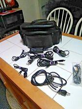 Camera Bag Digital Camera/Camcorder Ambico Shoulder Leather Bag Case 14x7-EUC