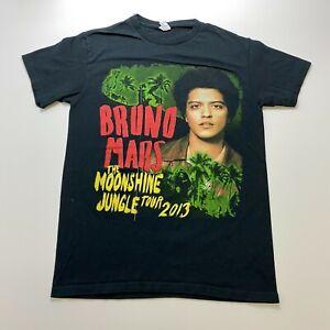Bruno Mars Moonshine Jungle Tour 2013 T-Shirt Size S Black Concert Adult