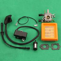 Carburetor for STIHL FS120 FS200 FS250 Gasket Fuel Filter Ignition coil kit Trim