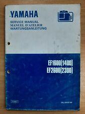 Yamaha EF1600 EF2600 Owners Workshop Service Manual