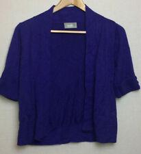 Wallis Womens Cardigan Thin Knit Purple Soft Autumn Winter Size 12 - 14 M