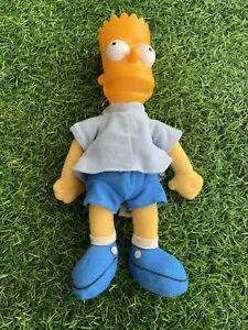 1990 Vintage Bart Simpson Doll, Bensons, The Simpsons Plush Toy Doll, Rare *J5
