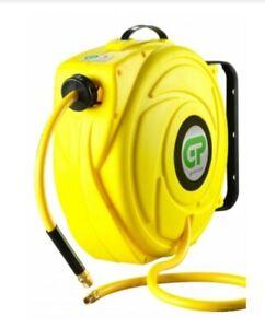 17 Metre Hi-Vis  Retractable Air Hose Reel - Yellow Case & Hose Free delivery UK