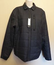 Marks & Spencer Autograph Small new grey-mix zip-up lightly quilted jacket
