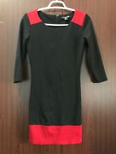 Forever21. Black with Red 3/4 sleeves bodycon dress. Size small.