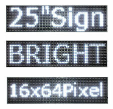 "2Pcs 25""x 6.5"" LED Sign Programmable Scrolling Window Message Display White P10"