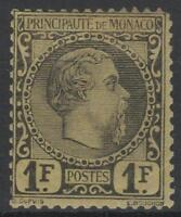 """MONACO STAMP TIMBRE 9 """" PRINCE CHARLES III 1F NOIR S.JAUNE """" NEUF A VOIR  M584"""