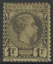 "MONACO STAMP TIMBRE 9 "" PRINCE CHARLES III 1F NOIR S.JAUNE "" NEUF A VOIR  M584"