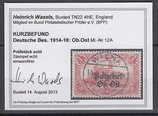 Deutsche Besetzung 1914/1918 Ost 12 A gestempelt geprüft Fotobefund Vollstempel