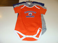 2012-13 Edmonton Oilers 3pc Foldover Neck Creeper Set 24 Months NHL Hockey NWT